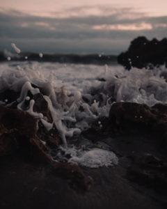 Abstract Foam Art Beach